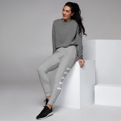 'Be Extraordinary At All Times' Grey/ White Women's Joggers