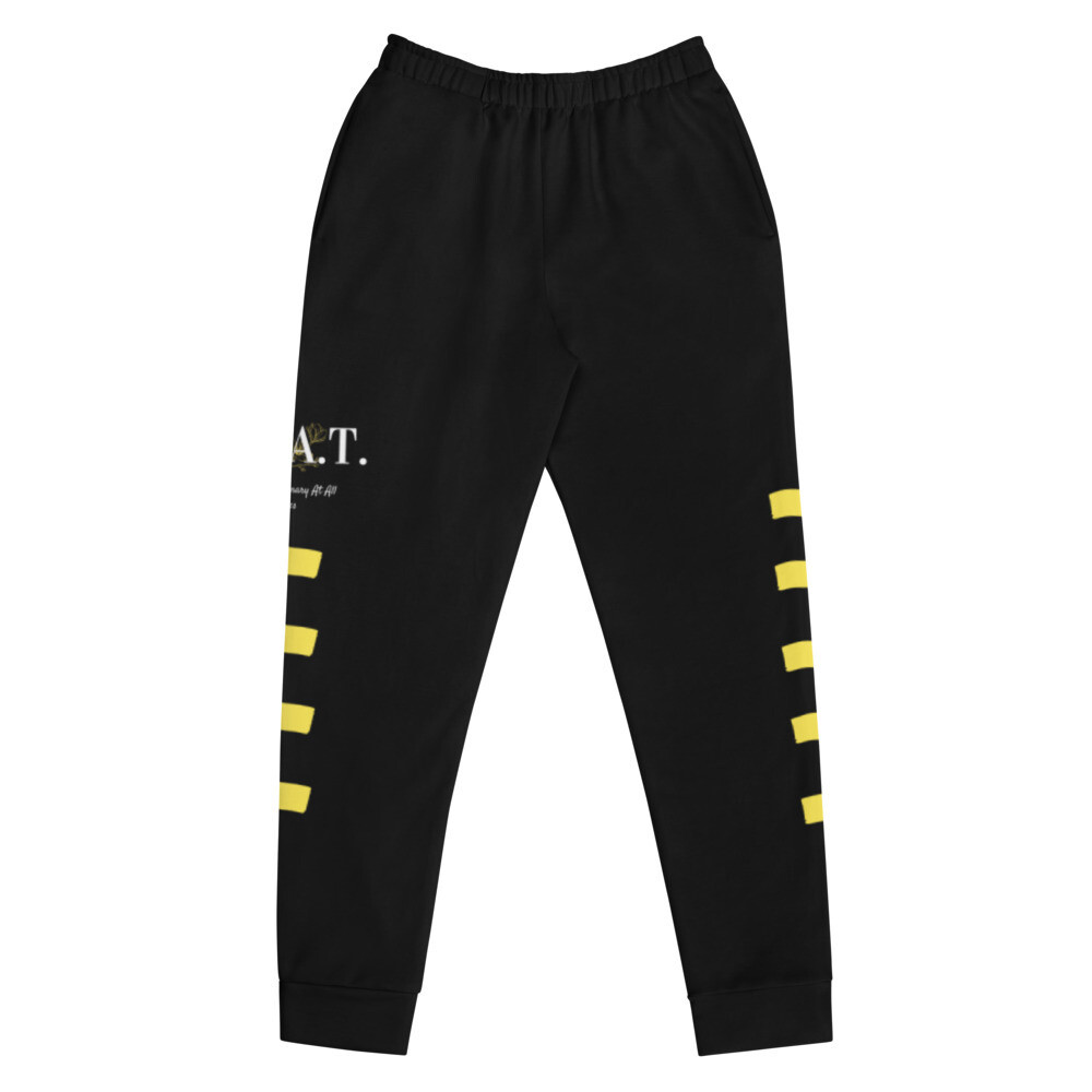 """Be Extraordinary At All Times' Yellow Stripped Women's Joggers"