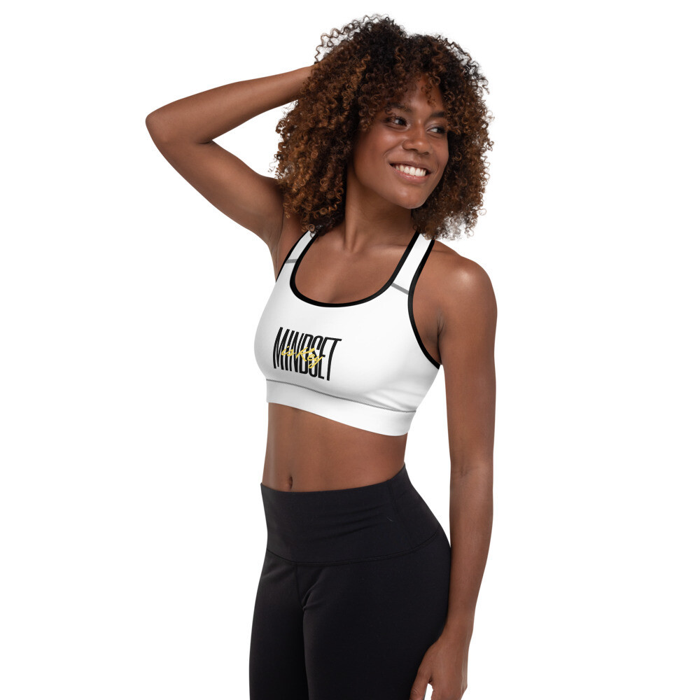 B.E.A.T. 'Mindset is Key' Padded Sports Bra