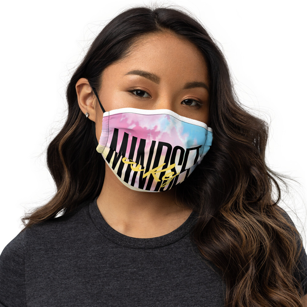'Mindset is Key' Tye-dye Face Mask