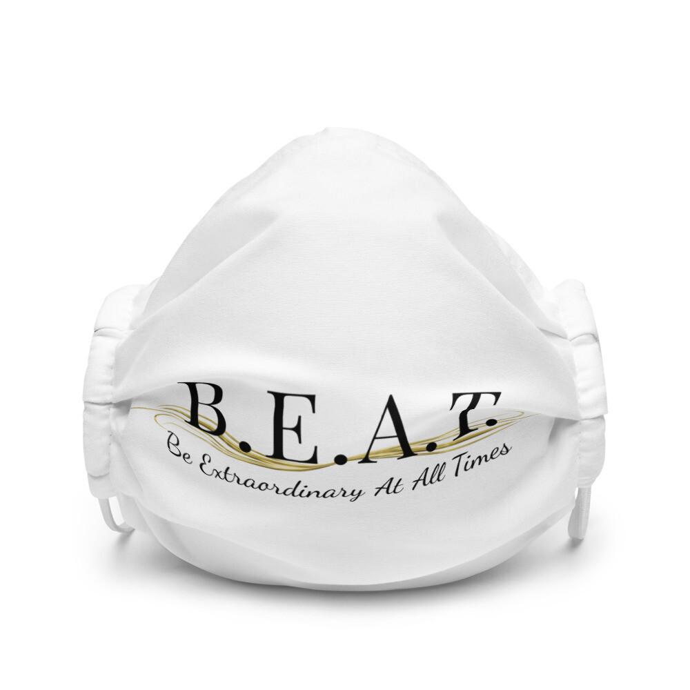 B.E.A.T. White/Black Face Mask