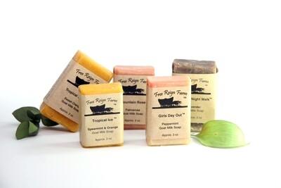 Sample Soaps: Choose 5 Half Bars (Wedding favors, Travel Soaps, Stocking Stuffers)