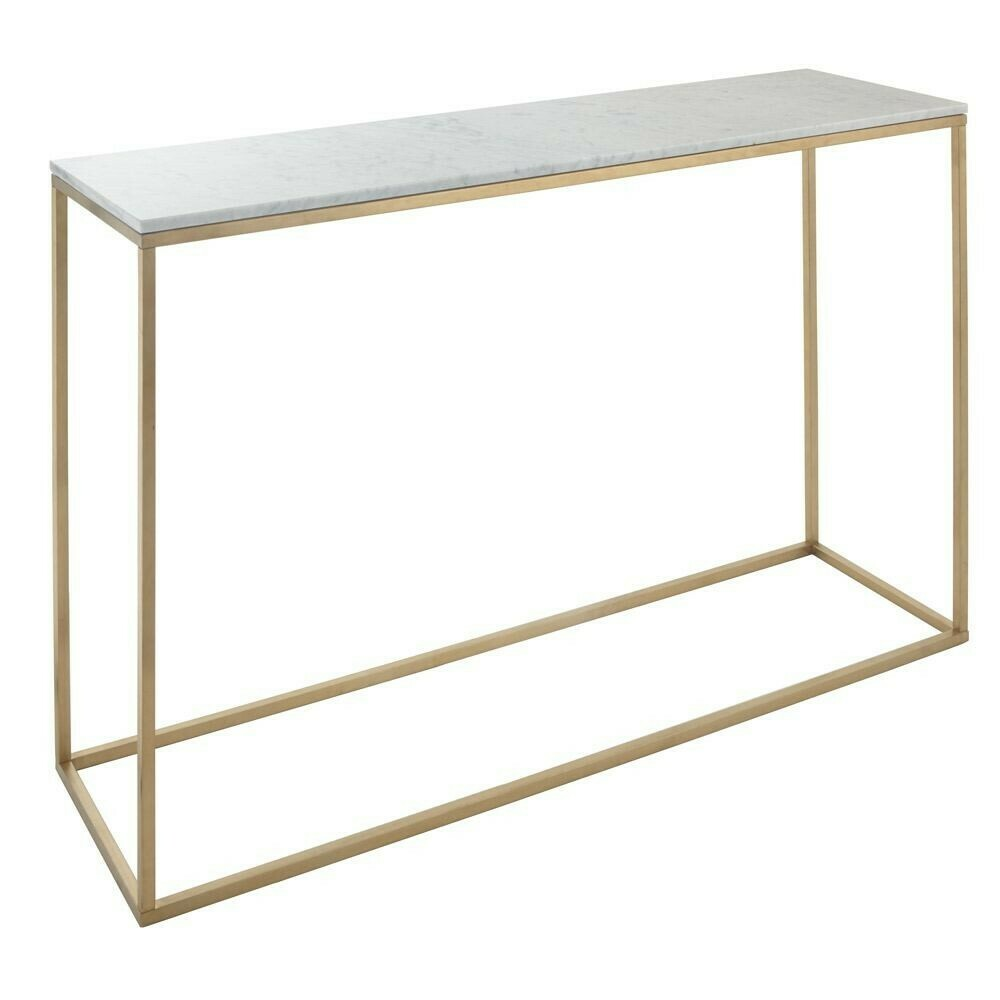 Marble & Brushed Gold Console Table