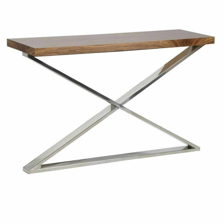 Chrome Cross Console Table
