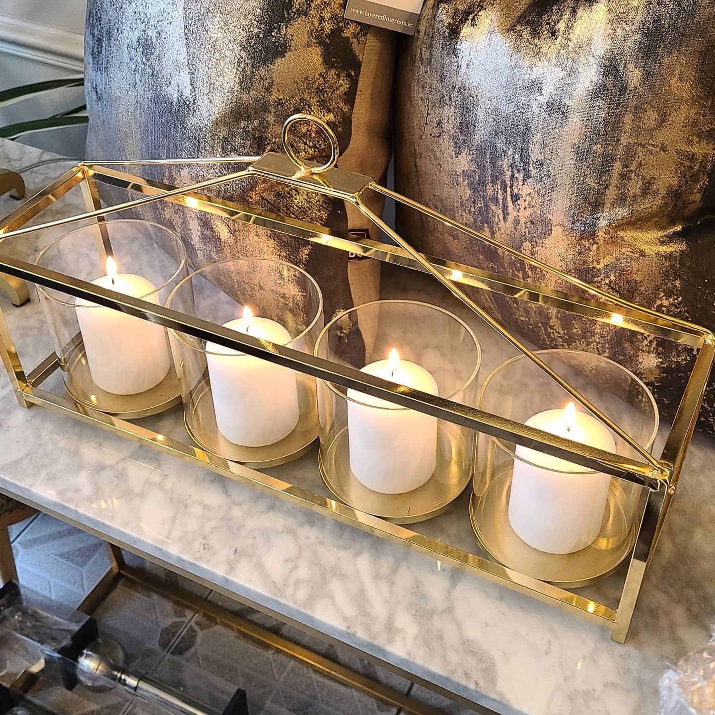 Candle Holder silver or gold