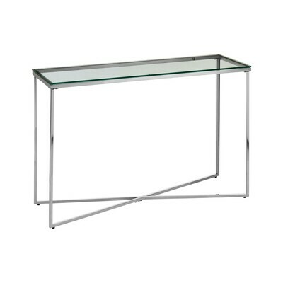 Silver Cross Base Console Table