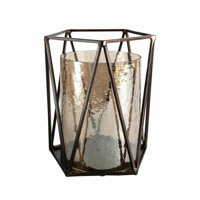 Brown Lustre Lantern Copper