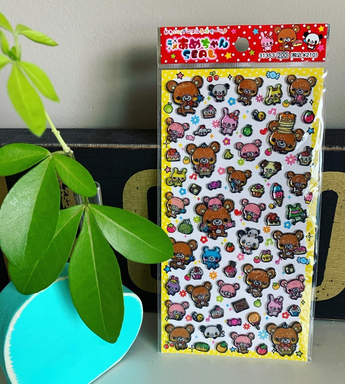 Q-Lia Kuma Bear Pastry Sticker Sheet