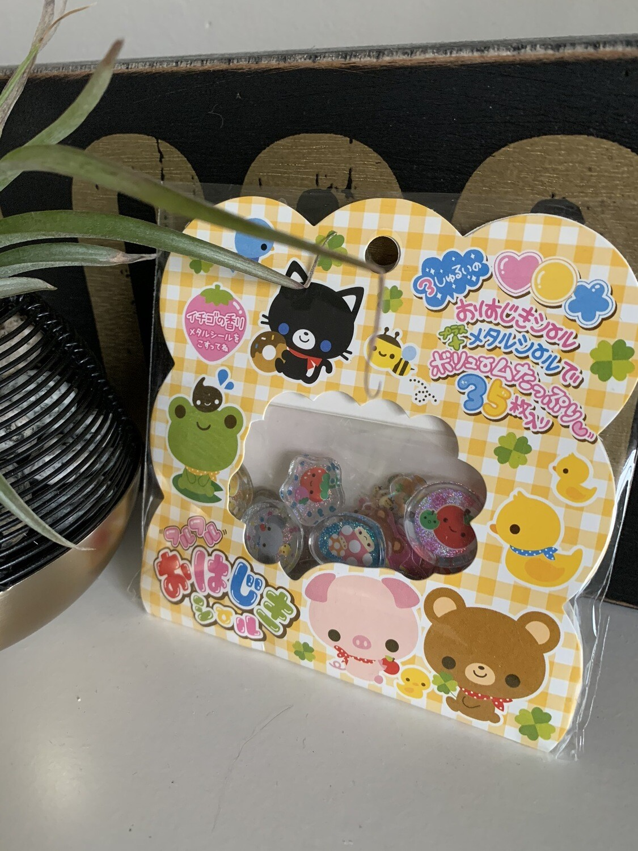 Japan Q-Lia Animal Farm Acrylic Sticker Sack