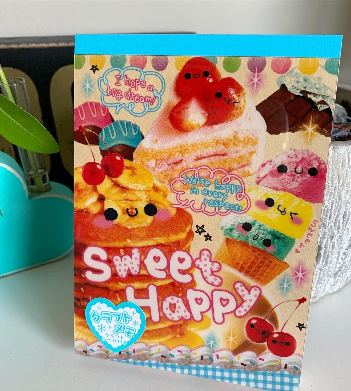 Japan Crux Sweet Happy Large Memo Pad