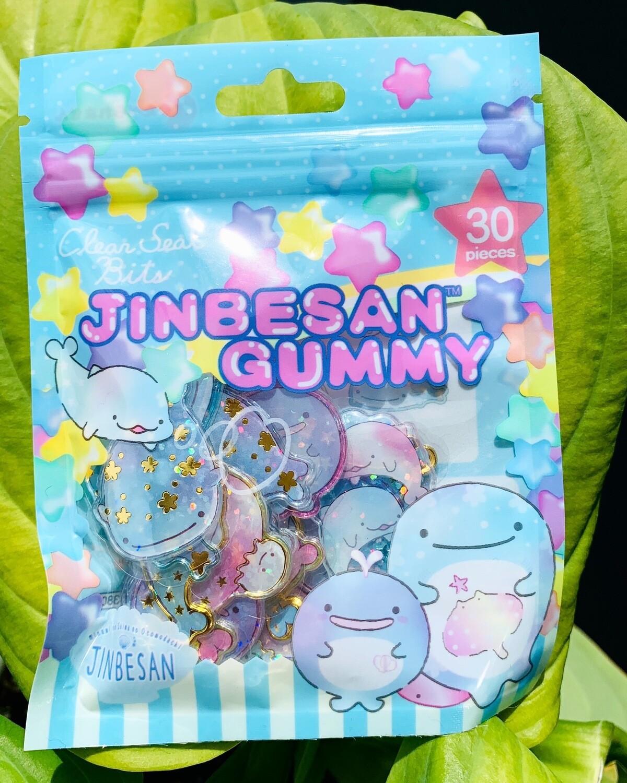 San-X Jinbesan Gummy Acrylic Sticker Sack