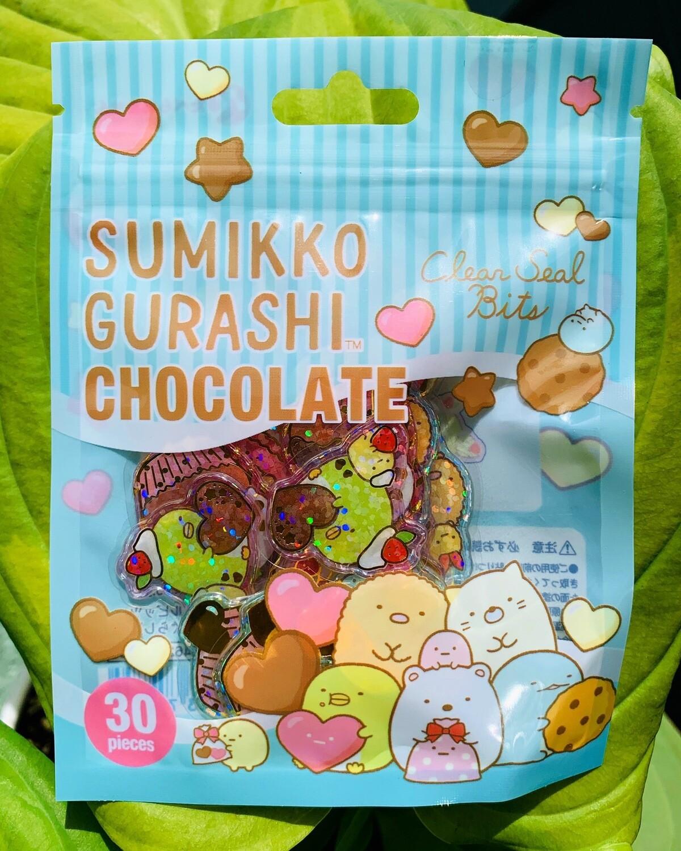 Japan San-X Sumikkogurashi Chocolate Acrylic Sticker Sack