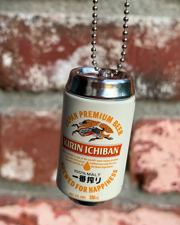 Kirin Ichiban Beer Can Charm Keychain