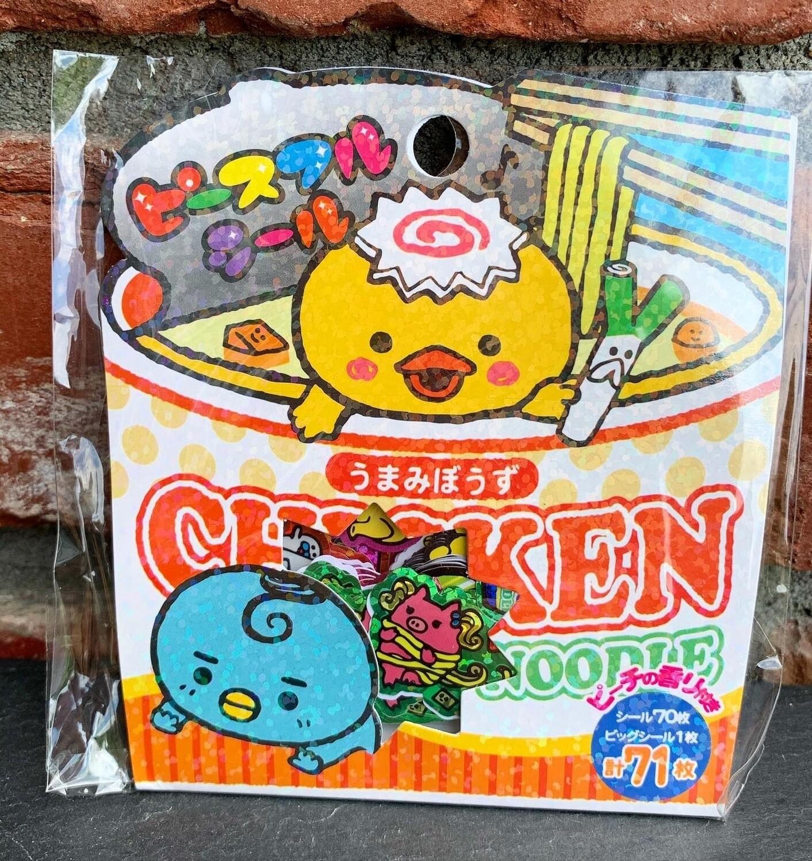Japan Mind Wave Chicken Cup Noodle Sticker Sack