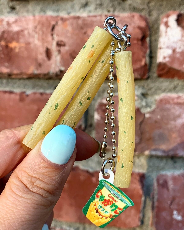 Calbee Potato Chips Snack Keychain