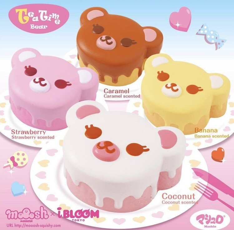 iBloom Tea Time Bear Squishy Toy