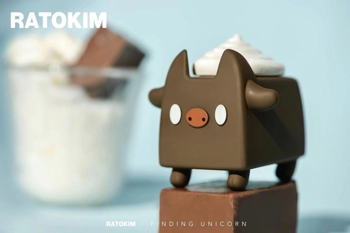 RATOKIM Drinking Box Cat - Chocolate