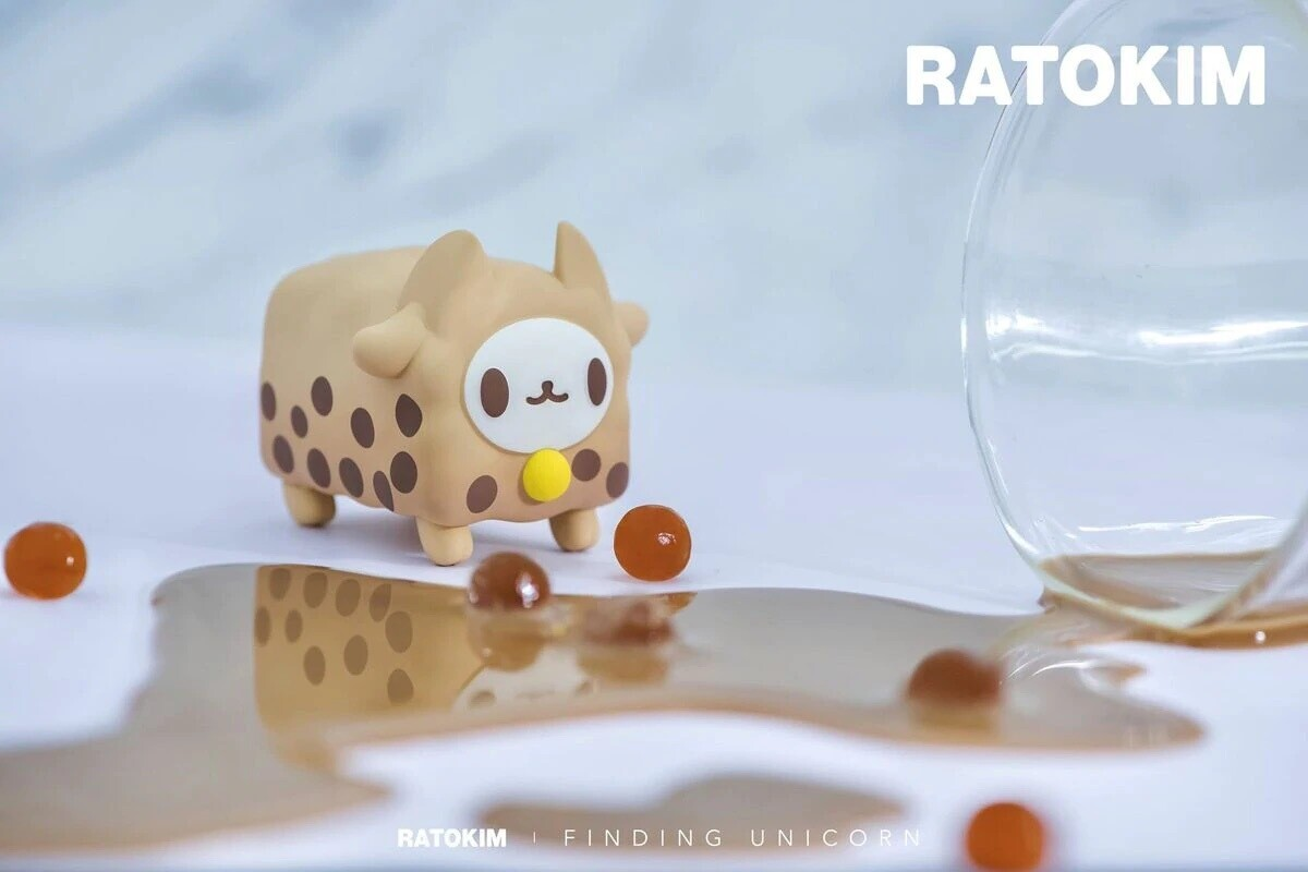 RATOKIM Drinking Box Cat - Bubble Tea