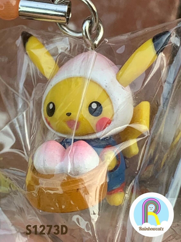 Pokemon Pikachu Lotus Bun Charm Strap