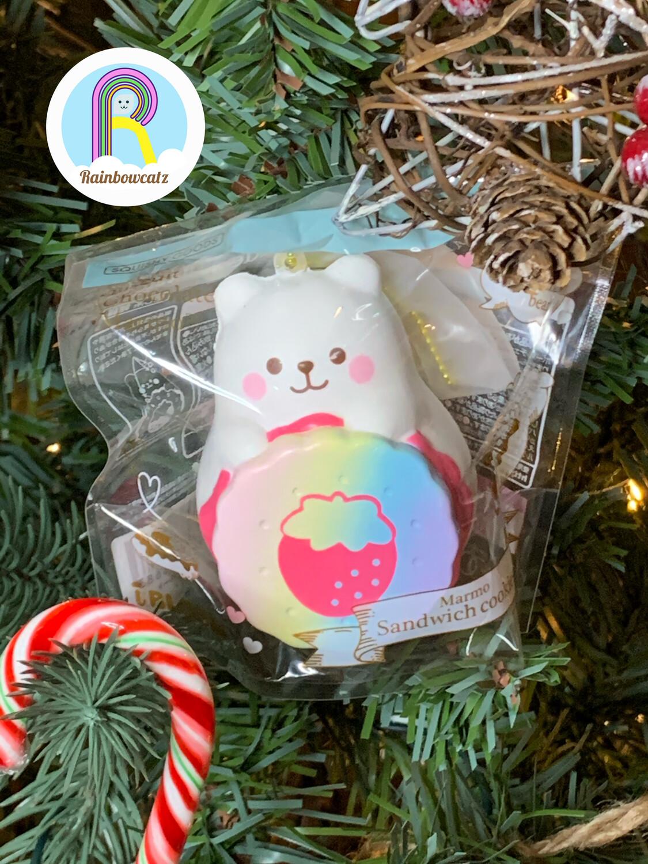 [Limited Edition] IBloom X PJAS J Marmo Sandwich Cookie Squishy - Rainbow