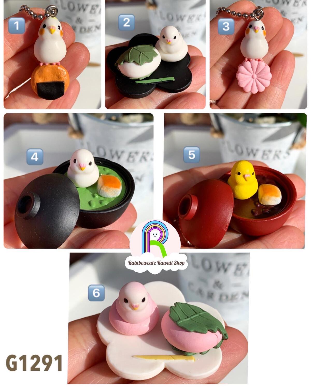 Epoch Tea Room Birds Figures Gashapon