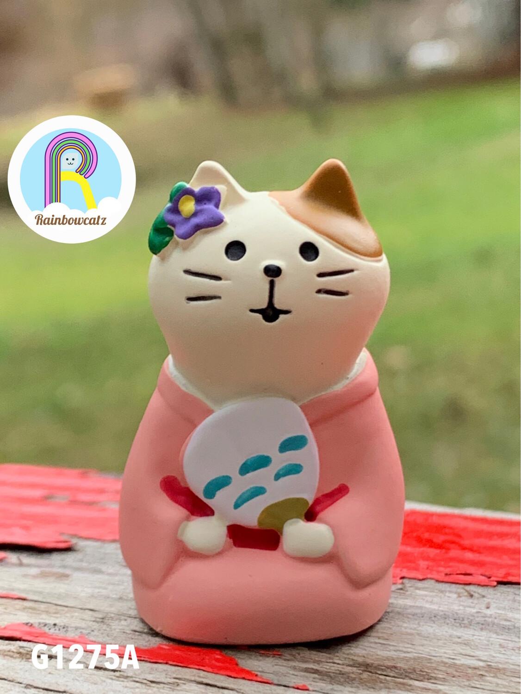 Decole Concombre Apple Party Cat Figure