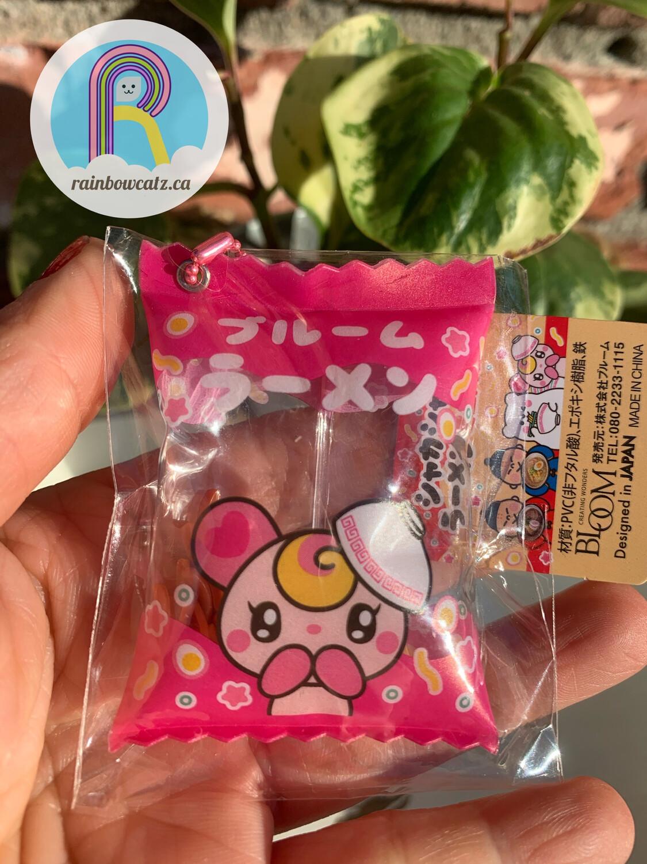 iBloom Ramen Snack Shaka Air Squishy Keychain