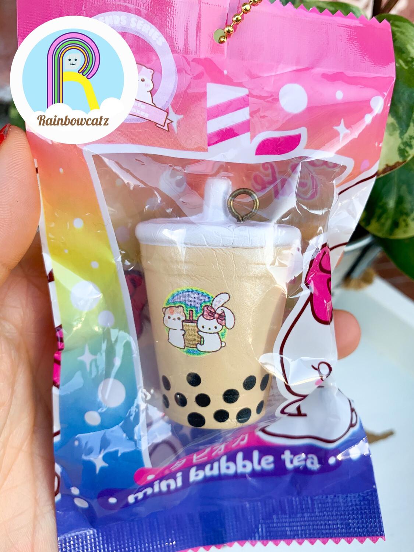 Milk Bubble Tea Mini Squishy Keychain