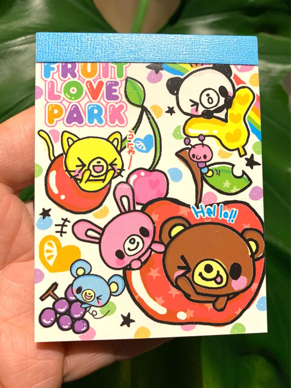 Q-Lia Fruit Love Park Mini Memo Pad