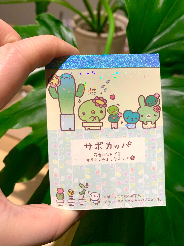 San-X Sabo Kappa Mini Memo Pad