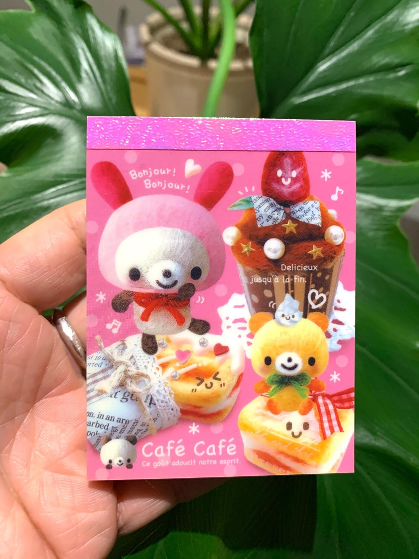 Kamio Cafe Cafe Bear Mini Memo Pad