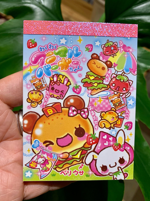 Kamio Burger Chan Mini Memo Pad