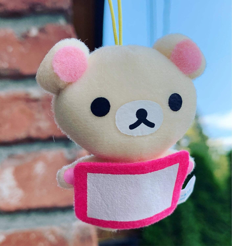 San-X Korokoro Relax Bear Plush Strap