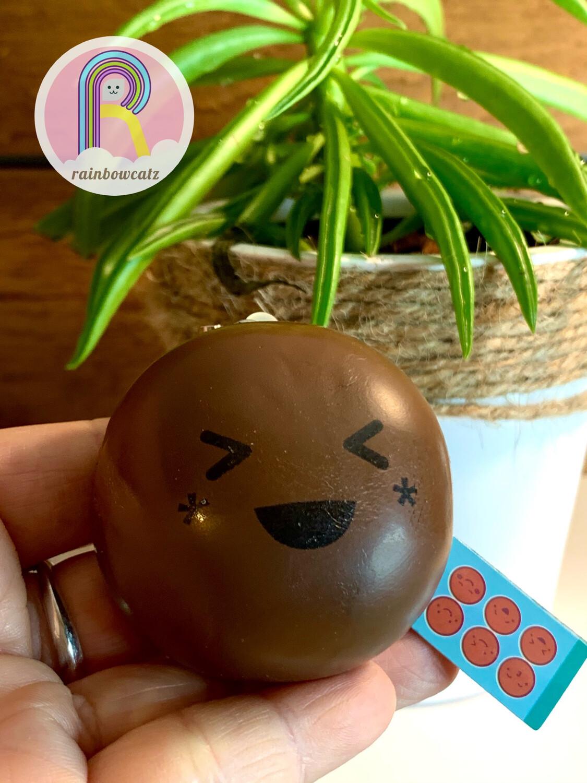 Chocolate Bun Squishy Strap