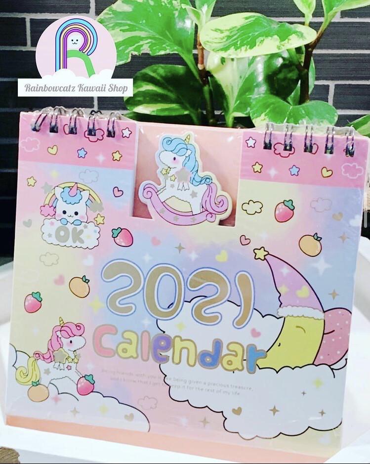 2021 Unicorn Desktop Calendar