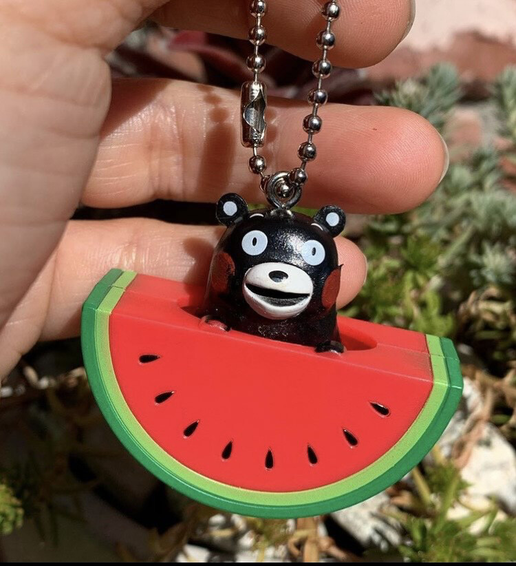 Kumamon Watermelon Charm Keychain