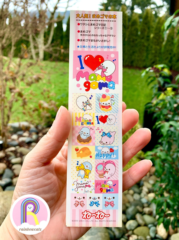 RARE San-X Vintage Mameogoma Sticker Sheet