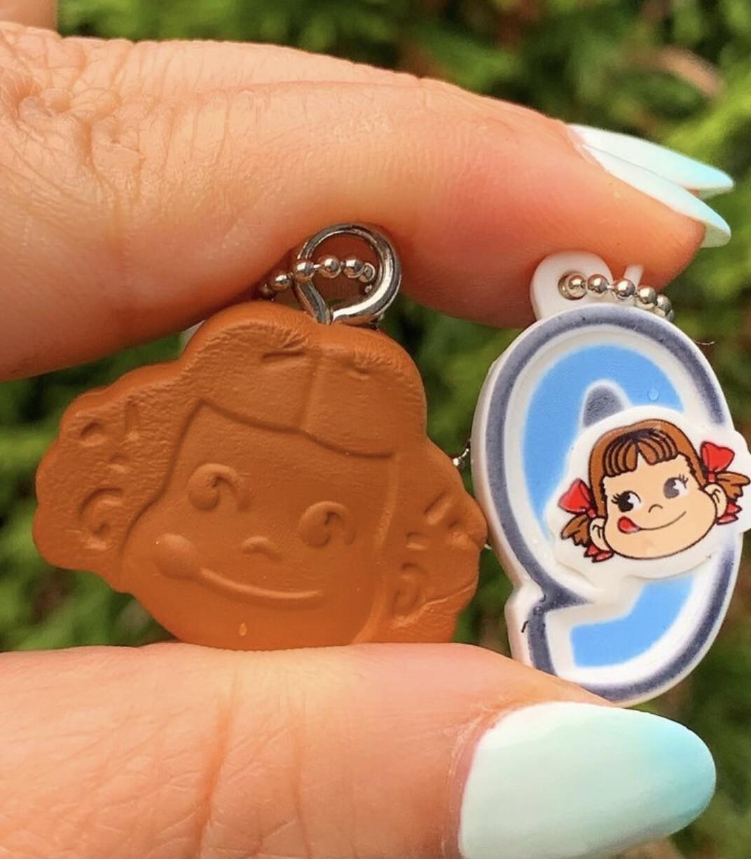 Bandai Peko Chan Cream Biscuit Keychain
