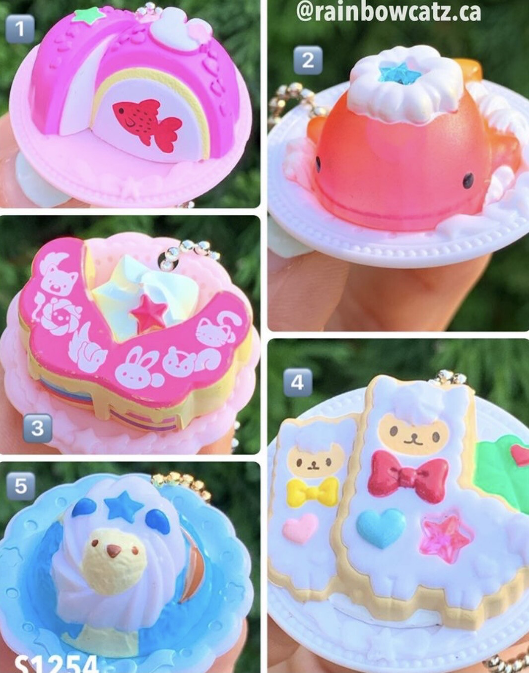 Animal Dessert Sweets Plate Miniature Keychain