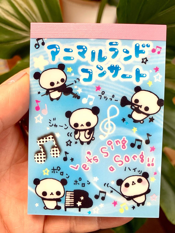 San-X 2008 Panda Concert Mini Memo Pad