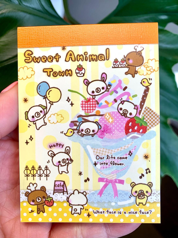 Japan Kamio Sweet Animal Town Parfait Mini Memo Pad