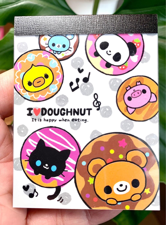 Q-Lia I love Doughnut Mini Memo Pad
