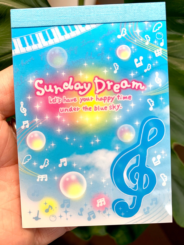 San-X 2008 Sunday Dream Mini Memo Pad