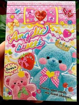 Kamio Angelic Sweet Bear Large Memo Pad