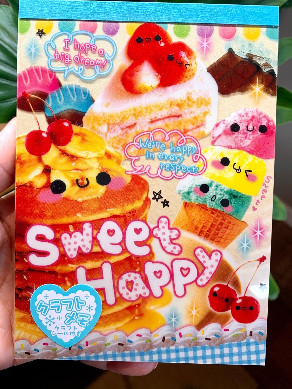 Crux Sweet Happy Large Memo Pad