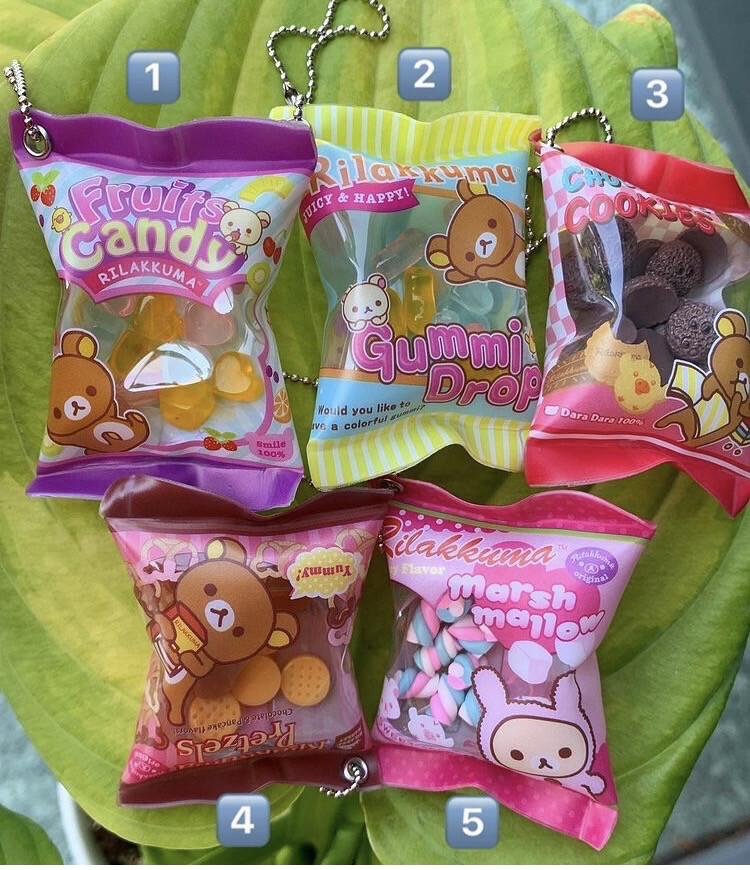 Korokoro / San-X Rilakkuma Candy Shakashaka Keychain