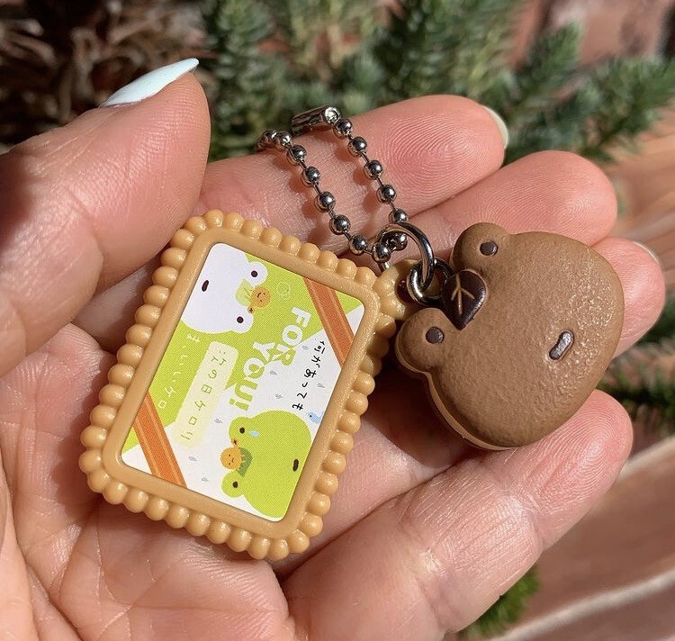 Bandai San-X Tsuginoshi Kerori Frog Biscuit Keychain RARE