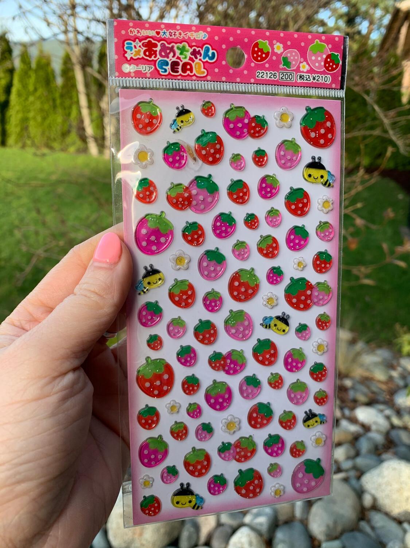 Q-Lia Strawberry Sticker Sheet