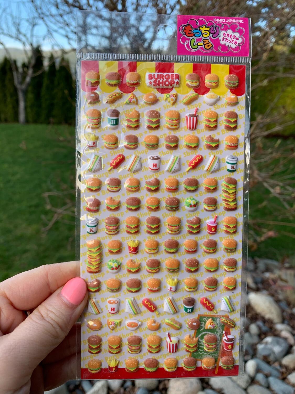 Kamio Mini Burger Shop Sticker Sheet