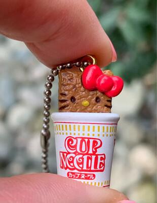 Sanrio Hello Kitty Cup Noodle Ramen Charm Keychain